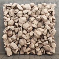 3d model stone panels