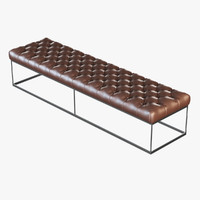 Brown leather banquette eich / 0432