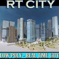 3d city street real model