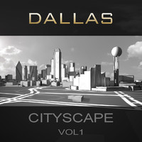 dallas city buildings c4d