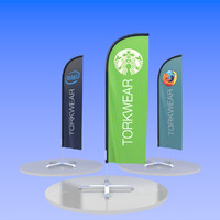 outdoor banner 3d obj