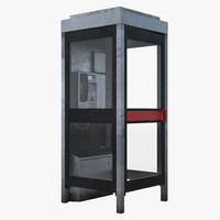 telephone box 2 3d 3ds