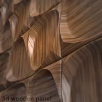 wooden 3d panel dark wood