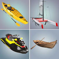 3d model boats kayak catamaran