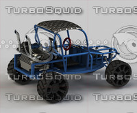 obj homemade blue buggy car