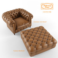 3d armchair footrest chester