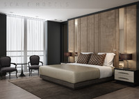 3d model modern luxury bedroom