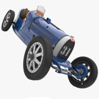 bugatti type 35 c 3d model