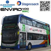 alexander dennis enviro stagecoach 3d max