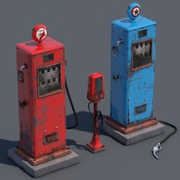 Vintage Old Gas Pump