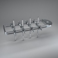 3dsmax bone external fixation apparatus