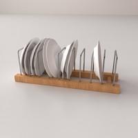 plate rack v2 3d model