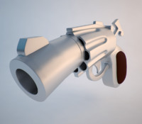 3d cartoon pistol model
