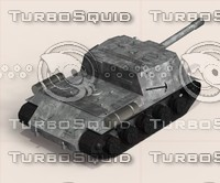 tank gun mount rail tracks 3d model