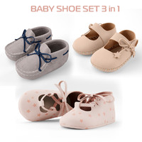 3d model of set baby shoe