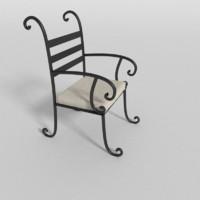 lawn chair 3d blend