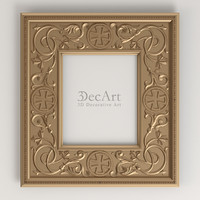 3d carved frame