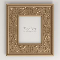 carved frame 3d max
