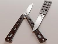 3d model balisong butterfly knife