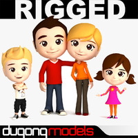 3d model dugm06 family rigged