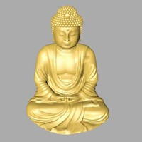 3d model of budda statue