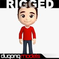 dugm06 rigged cartoon man 3d max
