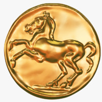 3d realistic gold coin