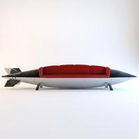 3d rocket sofa model