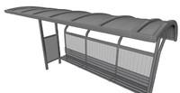 3d bus station model