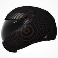 3d model helmet skidlid face