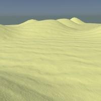 3d sand sandy terrain