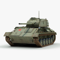 3d ww2 t80 light tank model