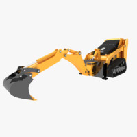 maya excavators bobcat mini