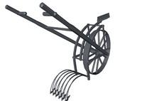 3d obj medieval hand plow