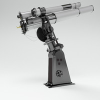 telescope observatory 3d model