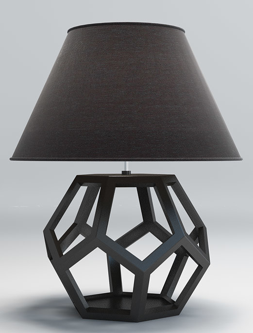 Ralph table lamp 3d max for Dodecahedron light fixture