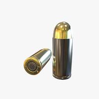 2 9mm bullets 3d model