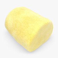 marshmallow yellow 3d model