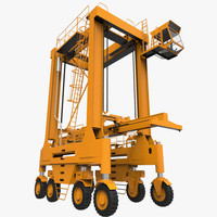 straddle carrier contains 3d model