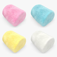 3d model marshmallow set