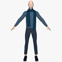 3d model jumper pants