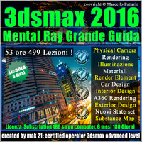 3ds max 2016 Mental Ray Grande Guida Subscription 6 Mesi