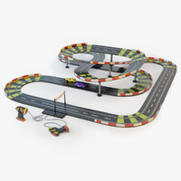 racing track toy 3d model