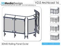 3ds max archicad 3dmd railing panel