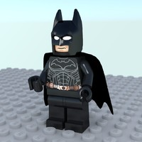 batman lego 3d obj