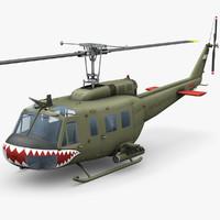 3d model bell uh-1d vietnam