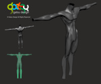 fantasy body 3d model