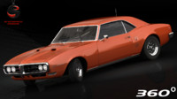 pontiac firebird 1968 3d model