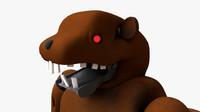3ds max animatronic beaver