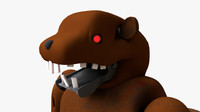 animatronic beaver 3d model